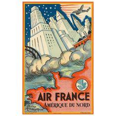 Original Air France Poster