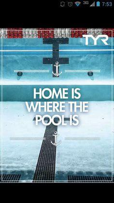 For me, home is where the pool is/ para mi, hogar es donde esta la pileta