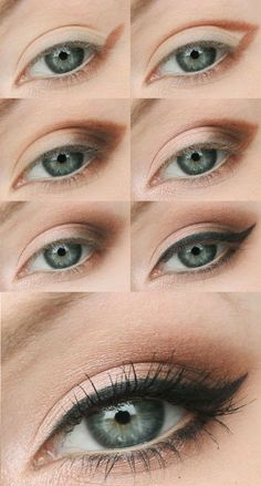 trendy ideas for makeup eye tutorial kylie jenner make up - Make-Up Makeup Eye Looks, Eye Makeup Steps, Natural Eye Makeup, Natural Eyes, Smokey Eye Makeup, Skin Makeup, Eyeshadow Makeup, Makeup For Downturned Eyes, Makeup Inspo
