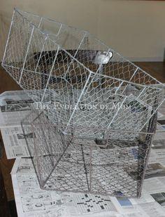 VIntage Wire Basket DIY - The Evolution of Mom