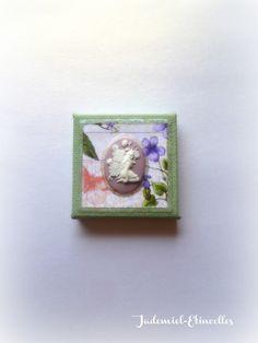 """Mini toile décorative """" Songes de fleurs """" n°55 : Accessoires de maison par jademiel-etincelles"""