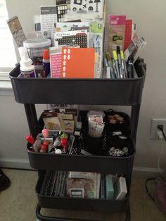 #papercraft #scrapbooking #organization - Pinner says...How I organize my Raskog cart.