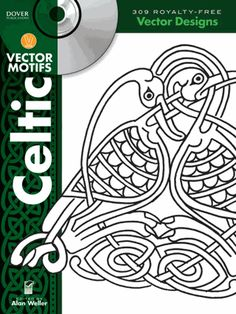 This compilation of more than 300 easily customized graphics features mythical beasts, circular and square spot illustrations, and other traditional motifs, all graced by the intertwined style of ancient Celtic artwork. Files are offered in EPS, SVG, JPEG, and PNG formats.