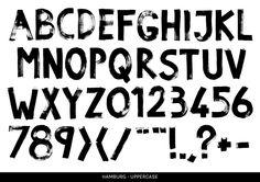 Hamburg - paint font