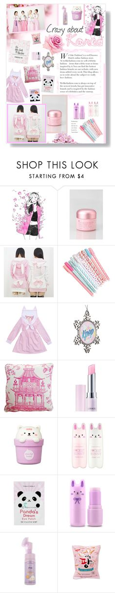 """""""Crazy about Korea"""" by lillyluvs ❤ liked on Polyvore featuring beauty, Mizon, Stuart Lawrence, Lirikos, The Face Shop, Tony Moly, Etude House, Urban Outfitters and kawaii"""