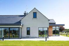 New Build In County Armagh Informasi dan tips mengenai rumah minimalis Modern Bungalow House, Bungalow Exterior, Bungalow Renovation, Cottage Exterior, Modern Farmhouse Exterior, Dream House Exterior, Modern House Plans, Modern House Design, Farmhouse Design