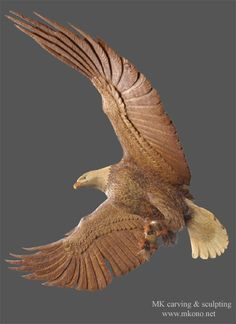 Flying eagle- Mori (Moriyuki) Kono: was born in 1967, moved to Canada from Japan officially in 1997 as a professional wood carver