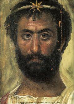 Faiyum funerary portrait, 100 BCE - 100 CE. Encaustic on panel.  https://s-media-cache-ak0.pinimg.com/originals/c5/57/f9/c557f9fb03bac9a57790d45d7da164bf.gif