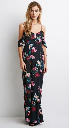 Gypsy~ Off The Shoulder~ Floral Maxi Dress by TheCuteGypsy on Etsy
