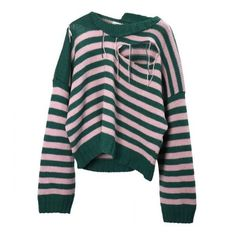 Charles Jeffrey LOVERBOY SLASHED STRIPE JUMPER PINK-GREEN (€750) ❤ liked on Polyvore featuring tops, sweaters, stripe sweaters, striped jumper, stripe top, multi stripe sweater and pink wool sweater