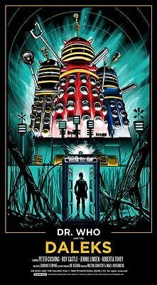 Dr Who and the Daleks Starring Peter Cushing - Poster by Tim Doyle Dr Who, Screen Print Poster, Poster Prints, Art Print, Ant Man Poster, Peter Cushing, Sold Out Sign, Doctor Who Art, Nerd Art