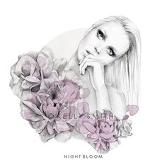 Night Bloom LIMITED EDITION PRINT A4 by birdyandme on Etsy