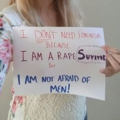 """Feminists try so hard to justify hating men by saying """"It's okay if 1 hurt you."""" Well one has hurt this women, and she's still strong without hating men. Women Against Feminism, Yes All Women, Women Logic, Brave Heart, I Am Not Afraid, Married With Children, Hate Men, World View, It's Meant To Be"""