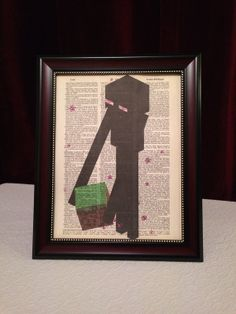 Vintage 8 3/8 x 10 3/4 Minecraft Enderman Dictionary by Picks4You, $5.77