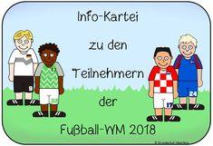 Fußball-WM: Infokartei über die Nationalmannschaften – Grundschul-Ideenbox