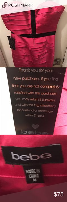 Brand-new party dress from Bebe. Brand-new Bebe dress size medium excellent condition Bebe Dresses Midi