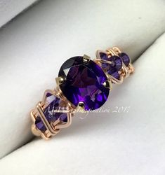 AAA Royal Amethyst Wire Wrapped Ring