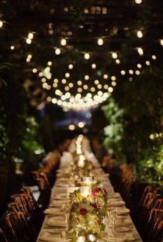 I'm slightly obsessed with gorgeous outdoor dining scenes. Maybe for my alternate universe wedding!