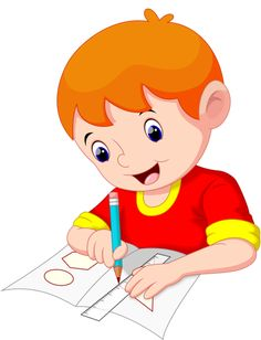 Little boy drawing on a piece of paper Kids Cartoon Characters, Cartoon Pics, Cartoon Drawings, Boy Illustration, Illustrations, Little Boy Drawing, Animation Schools, Teaching Geometry, School Clipart