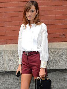 white shirt chic. Alexa in NYC. #AlexaChung