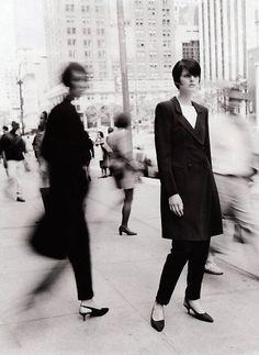 """City Perspective"", Harper's Bazaar US, September 1995  Photographer: Patrick Demarchelier  Model: Stella Tennant"