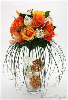 Pumpkin Floral Arrangements, Paper Flower Arrangements, Paper Flower Backdrop, Flower Decorations, Floating Candle Centerpieces, Vases Decor, Ikebana, Chocolate Flowers Bouquet, Candy Flowers