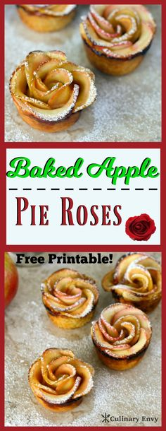Wow your family and guests with these delicious Baked Apple Pie Roses. They're a…