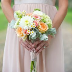 photo by: Leah Haydock Photography // Location: Glen Magna Farms // Bridesmaid Bouquets: The Flower Kiosk