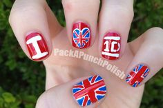 O.M.G theses nails are per-fect!!!<3 I want it!*.*I wish I could make beautiful One Direction nails like that!!:)I really love the colors that fit right with the 1D logo and the British flag!*.*love it!