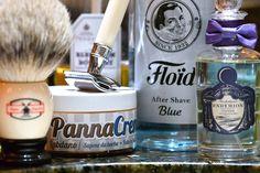 Panna Crema Labdano shave cream, Muehle badger brush, Edwin Jagger safety razor, Floid Blue aftershave, Penhaligon's Endymion cologne, January 27, 2017.  ©Sarimento1
