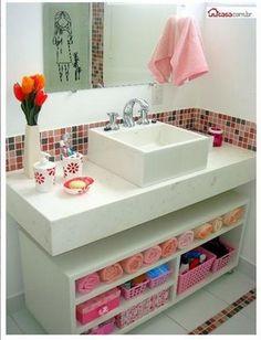 Idéia para o banheiro da Marina