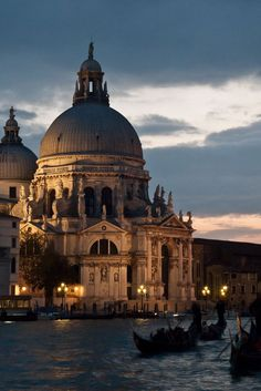 The Basilica di Santa Maria della Salute (Basilica of St. Mary of Health) - Venice, Italy