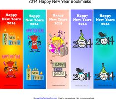 Happy New Years Bookmarks