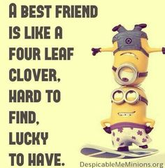 Lucky to have all my best friends in this world! Bff Quotes, Best Friend Quotes, Friendship Quotes, My Best Friend, Funny Quotes, Real Quotes, Minions Friends, Minions Love, My Minion