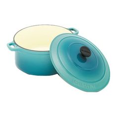 Chasseur Round Casserole with Lid in Turquoise Blue: great color in the kitchen