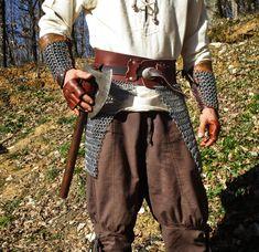 Tassette, armure, cotte de maille, ceinture, accessoires, larp, gn, viking de la boutique CreArtNoMade sur Etsy