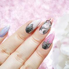 Unicorn Nails <3  Photo by @candymona_official - Na blogu www.candymona.pl pojawił się nowy wpis, a w nim pazurki z jednorożcem wykonane przy pomocy płytki do stempli @bornprettystore L045  ___________  New post on my blog.  This time I will show You unicorn nails made by using stamping plate @bornprettystorenailart L045  ____________ #unicorn #unicornnails #jednorożec #jednorożce #nailart #instanails #polishgirl #nails #paznokcie #lakiery #stemple #stampingnails #diamond #bornprettystor