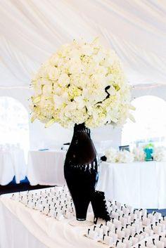 Classic Black & White Wedding Centerpiece