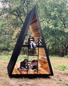 Backyard huts in Brooklyn