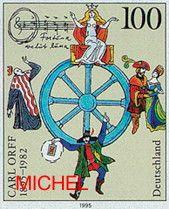 Zum 100. Geburtstag von Carl Orff erschien diese Briefmarke (MiNr. 1806)