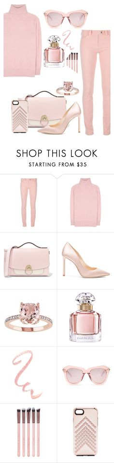 """""""Pastel"""" by sunnydays4everkh ❤ liked on Polyvore featuring Balenciaga, Tomas Maier, Mallet & Co, Jimmy Choo, Guerlain, Karen Walker and Rebecca Minkoff"""