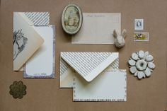 LimiNoted range. Upcycled envelopes and bespoke personalised note-cards. Romantic and nostalgic stationery. www.poppyseedcollective.com