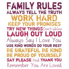 Family Rules Canvas Print.