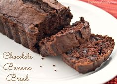 Chocolate Banana Bread - made easy with cake mix!
