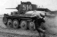 An early war, German 38t light tank.