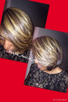 Blonde hair highlights. Relaxer Free healthy hair