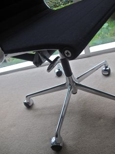 Vintage Eames Aluminium Group Chair Produced By Vitra.