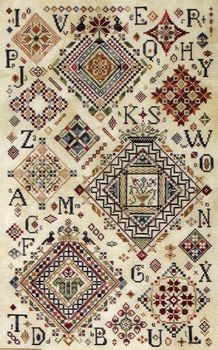 Quaker Diamonds. My BFF and I both bought this pattern. We're gonna stitch it together. Sort of. :)