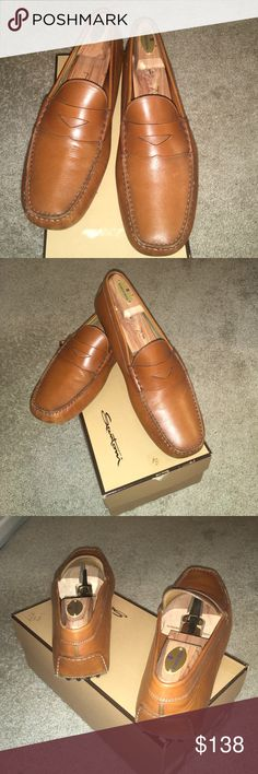 8dcb1507ffa Men s Santoni Leather Driving Moccasins (Vintage) Men s Vintage Santoni  Driving Moccasins These smart looking