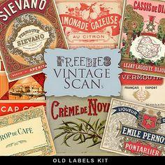 Vintage label printables